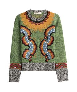 Valentino | Embroidered Wool Blend Pullover Gr. S