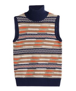 Diane Von Furstenberg | Vest With Merino Wool And Silk Gr. S