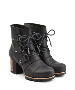 Sorel | Leather Ankle Boots With Block Heel Gr. Us 7