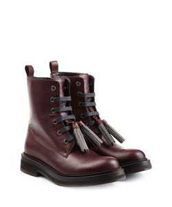 Brunello Cucinelli | Leather Boots With Embellished Tassels Gr. It 36