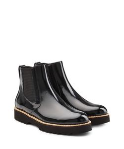 Hogan | Patent Leather Chelsea Boots Gr. It 39