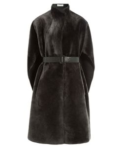 Nobi Talai | Lamb Fur Cape With Leather Belt Gr. One Size