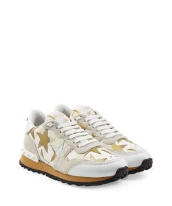 Valentino | Starstudded Suede And Leather Sneakers Gr. It 36