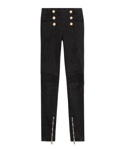 Balmain | Skinny Jeans With Embossed Buttons Gr. Fr 36