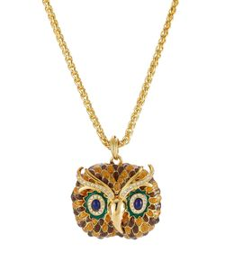 Kenneth Jay Lane | Embellished Owl Necklace Gr. One Size