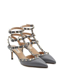 Valentino | Rockstud Leather Kitten Heel Pumps Gr. It 36