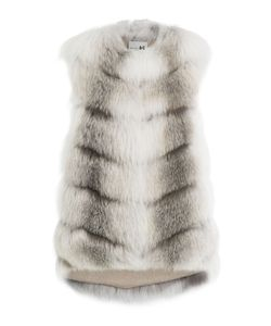 Manzoni 24 | Fox Fur Vest With Cashmere Lining Gr. It 38