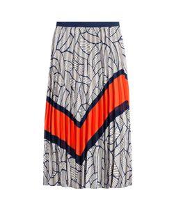 Diane Von Furstenberg | Printed And Pleated Skirt Gr. Us 6