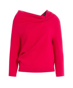 Roland Mouret | Wool Crepe Top With Open Back Gr. Uk 8