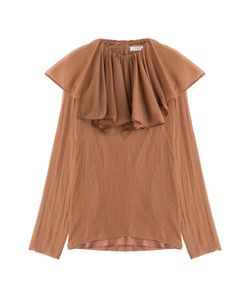 Nina Ricci | Silk Crepe Blouse With Ruffled Collar Gr. Fr 36
