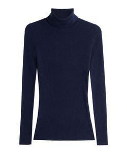 Diane Von Furstenberg   Merino Wool Turtleneck Pullover With Silk Gr. S