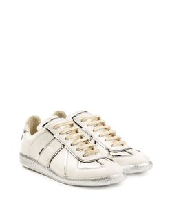 Maison Margiela | Leather Sneakers With Metallic Trims Gr. Eu 395