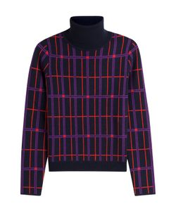 Carven | Printed Wool Turtleneck Pullover Gr. S