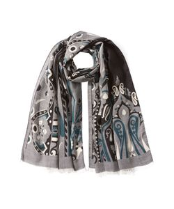 Etro | Printed Wool Scarf With Silk Gr. One Size