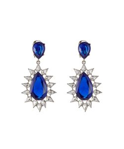 Kenneth Jay Lane | Faceted Earrings With Crystals Gr. One Size