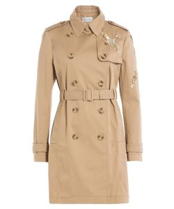 Red Valentino | Cotton Trench Coat With Sequin Embellishment Gr. It 38
