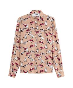 MSGM | Printed Silk Blouse Gr. It 40