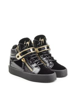 Giuseppe Zanotti Design   Patent Leather High-Top Sneakers With Velvet Gr. It 36