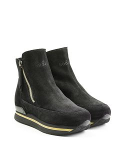 Hogan | Suede Platform Ankle Boots Gr. It 36