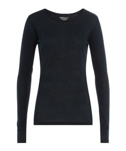 Majestic | Long Sleeved Cotton Top With Cashmere Gr. 2