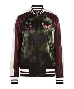 Valentino | Satin Bomber Jacket With Butterfly Patches Gr. It 40