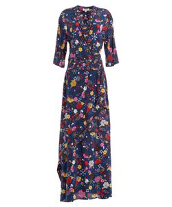 Kenzo | Floor-Length Printed Silk Maxi Dress Gr. Fr 36