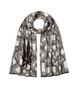 Lucien Pellat-Finet | Printed Cotton Scarf With Cashmere Gr. One Size