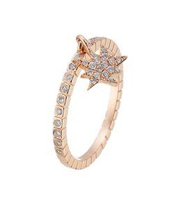 Diane Kordas | 18kt Rose Ring With White Diamonds Gr. 6
