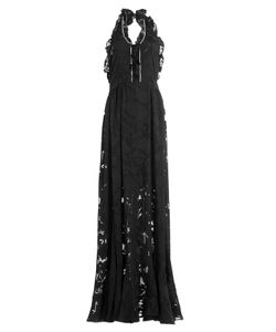 Preen By Thornton Bregazzi | Floor Length Ruffled Dress With Crystal Embellishment Gr. M