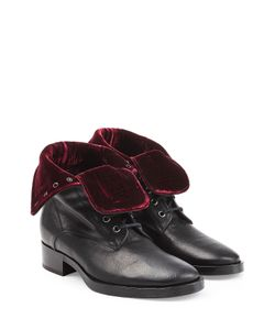 Etro | Leather Boots With Velvet Gr. It 37