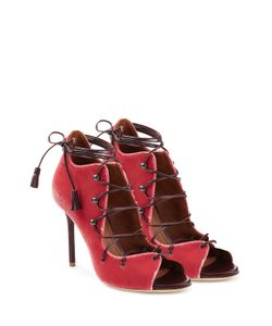 MALONE SOULIERS | Lace-Up Velvet Sandals Gr. Eu 39