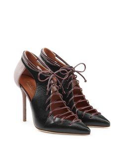 MALONE SOULIERS | Suede And Leather Lace-Up Pumps With Cut-Outs Gr. Eu 36