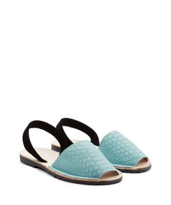 DEL RIO LONDON | Embossed Suede Sandals Gr. It 36