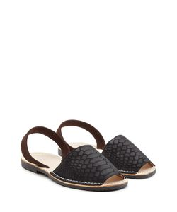 DEL RIO LONDON | Embossed Leather And Suede Sandals Gr. It 36