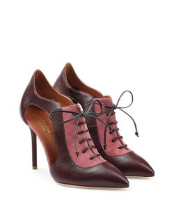 MALONE SOULIERS | Suede And Leather Lace-Up Pumps With Cut-Outs Gr. Eu 375