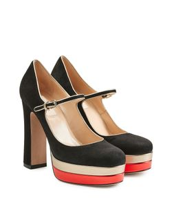 Valentino | Suede Platform Mary-Janes Gr. It 38
