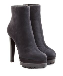 Sergio Rossi | Suede Platform Ankle Boots Gr. It 37