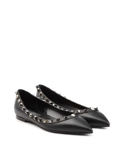 Valentino | Leather Rockstud Ballet Flats Gr. It 36