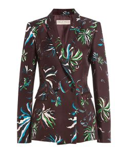 Emilio Pucci | Printed Wool Blazer With Silk Gr. It 40