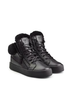 Giuseppe Zanotti Design | Leather/Shearling High-Top Sneakers Gr. It 36