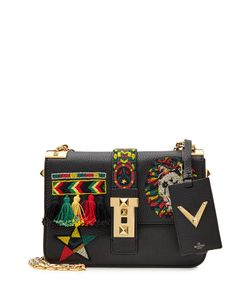 Valentino | B Rockstud Embellished Leather Shoulder Bag Gr. One Size