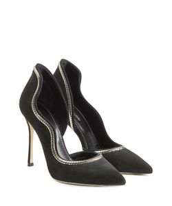 Sergio Rossi | Suede Pumps With Chain Embellishment Gr. It 36
