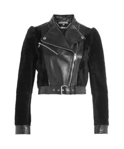 Alexander McQueen | Cropped Leather Jacket With Shearling Gr. It 38
