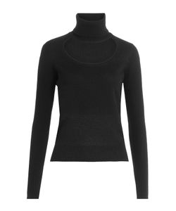 Diane Von Furstenberg | Wool-Cashmere Turtleneck With Cutout Gr. M