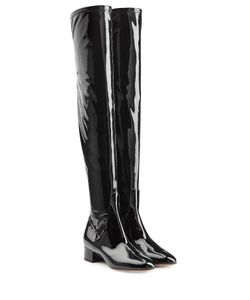 Valentino | Patent Leather Over Knee Boots Gr. It 36