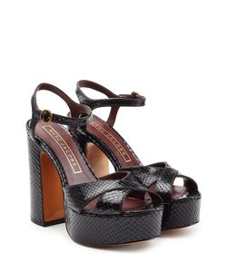 Marc Jacobs | Textured Leather Platform Sandals Gr. It 36