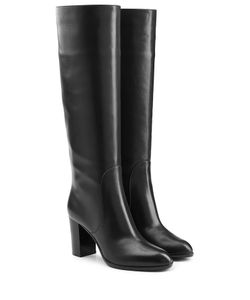 Sergio Rossi | Leather Knee Boots Gr. It 38