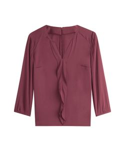 Hugo | Silk Blouse With Ruffle Gr. De 36