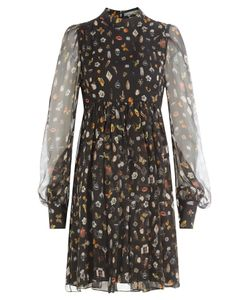 Alexander McQueen | Printed Silk Chiffon Dress Gr. It 38