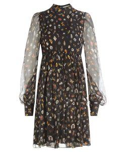 Alexander McQueen | Printed Silk Chiffon Dress Gr. It 38